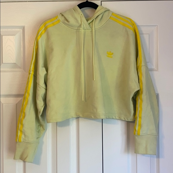 Adidas Cropped Hoodie (lime green and yellow)